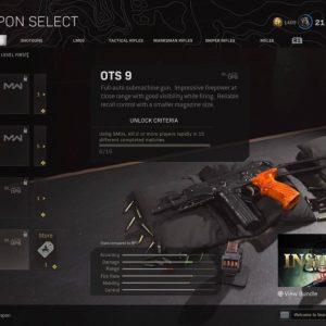 Лучшее снаряжение Warzone OTs 9 - легкий пистолет-пулемет с высокой скорострельностью